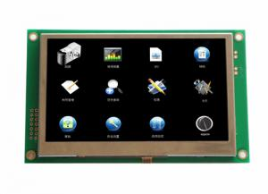 China 4.3 inch tft intelligent/smart lcd module display support RS232.RS485.TTL on sale