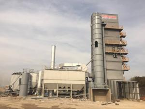 China 350t / H Hoisting Hopper Type Bitumen Hot Mix Plant , Automatic Batching Plant With Shaft - Mounted Gear Reducer on sale