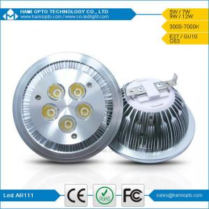 China High power LED G53 5W LED AR111 Lamp Down Light, Recessed LED Downlight Spot DC12V on sale