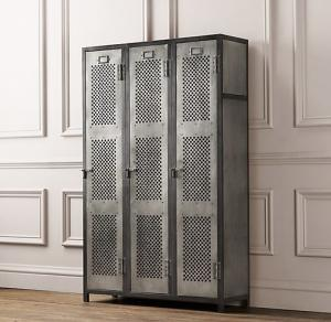 China Perforated Athletic Heavy Duty Metal Storage Cabinet Lockers With Recessed Handle on sale