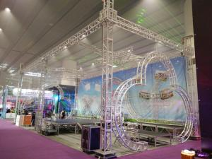 China Exhibtion Booth Or Stage Lighting Truss , 290mm or 300mm Aluminum Square Bolt Truss on sale