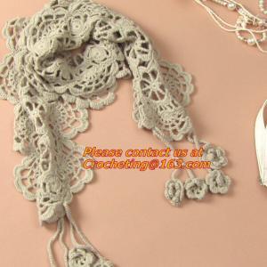 China autumn-summer, women's all-match, cutout handmade, crochet, yarn scarf,Shawls scarves Sen on sale