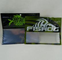 China Customized Size Plastic Fishing Worm Bags , Free Sample Surf Fishing Lure Bags on sale