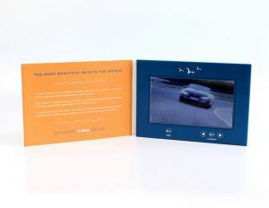 China tarjeta de felicitación video de 7 pulgadas, tarjetas de visita video del lcd para las actividades promocionales on sale