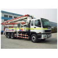 ISUZU truck mounted concrete pump Japan chassis 37m boom with powerful engine