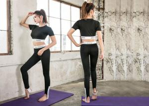China High Waist Womens Yoga Suit Fitted Breathable Moisture Wicking For Adults on sale