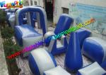 Customized Blue Inflatable Paintball Arena Obstacle Game For Shooting Sport