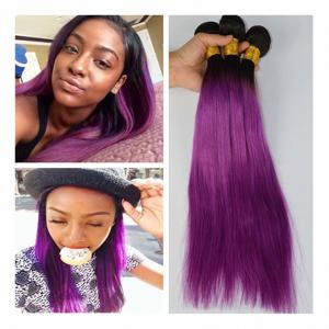 China Brazilian Blonde 1B/purple Straight Hair 100%Human Hair Weaving Remy Hair on sale