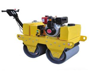 China Double Drum walking Road Roller on sale