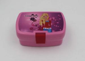 China Eco Friendly Pink Cartoon Plastic Lunch Boxes For Adults With Lock In Office on sale