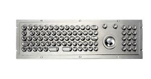 China MKTN2682 stainless steel metal keyboard with trackball and number pad on sale