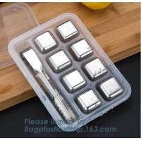 China hot sale magic stainless steel metal whisky stone tubes for drinks, food grade chilling gel that freezes ice cube whisky on sale