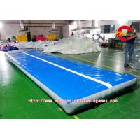 China Blue PVC Inflatable Air Track Cushion For Water Games Or Fitness on sale
