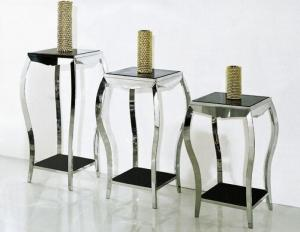 China Modern Glass Living Room Table Sets for Decoration Items Glass Flower Stand Set on sale
