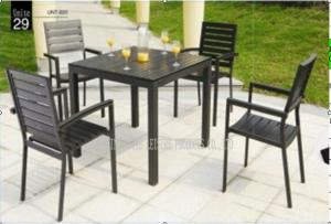 Quality Outdoor / Indoor Patio Garden Furniture Sets , Garden Table And 4 Chairs for sale