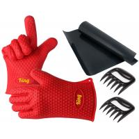 Perfect Bear Claw Meat Claws Silicone Oven Gloves With Fingers / Durable Silicone Baking Gloves