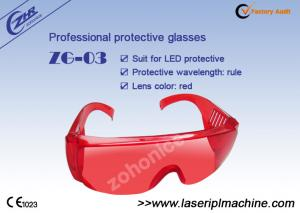 China Red Laser Protective Eyewear For Led Cool Light / Teeth Whitening Machine on sale