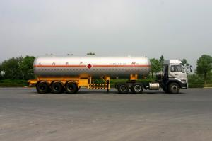China Carbon Steel Liquefied Petroleum Gas Tanker Truck 3x13T FUWA Axles 58300L for LPG delivery on sale