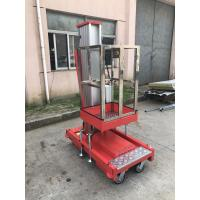 China 6m Single Mast Aluminum Aerial Work Platform Hydraulic Vertical Lift Table 125Kg on sale