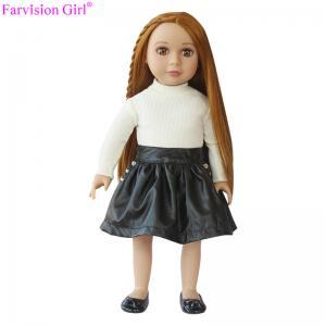 China Fashion vinyl doll 18 inch girl soft toy of half cloth body new black skirt on sale