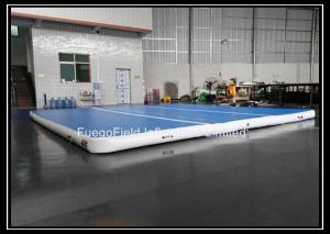China DWF Sky Blue Inflatable Air Tumble Track Of 10 Square Meters on sale
