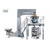 Ten Hopper Material Weighting Filling Granule Packaging Machine , Peanut Packing Machine