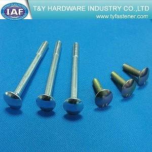 China class4.8 8.8 10.9  carriage bolt zinc plated din603 zinc yellow plated hdg on sale