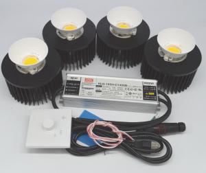 China 200W CXB3590  DIY COB LED Growing Lights with Reflecter Solution For 3500k Warm White Greenhouse Grow Lights on sale