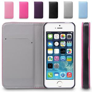 China Magnetic Flip Wallet Leather Iphone 5 Protective Case , Iphone 5s Cover on sale