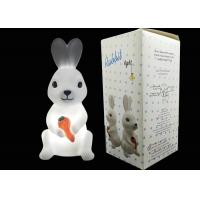China Bunny Rabbit LED Night Light Battery Powered Cute Design For Kids Play on sale
