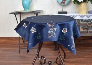 China Unique Square Decorative Table Cloths Chemical Fiber Multiple Colors Embroidered on sale