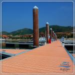 Customized Height PE Floating Platform Outdoor Swimming Pool Marine Grade