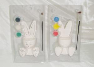 China DIY Pattern Ceramic Houseware Ceramic Rabbit With Painting / Brush Pen on sale