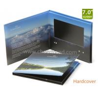 China Innovation 7 inch hardcover video brochure,video book,video card for invitation,advertising or promotion on sale
