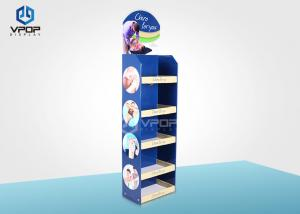 China Stable Cardboard Display Shelves , Cardboard Point Of Sale Display Stands on sale