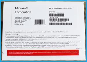 China 100% Activation Genuine Microsoft Windows 10 Pro Pack OEM 32 / 64 Bit Key Code Multi-language on sale
