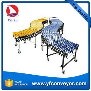 China Flexible Expandable Gravity Plastic Skate Wheel Conveyor on sale