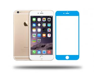 China Colorful tempered glass screen protector for iPhone 6/6Plus, different colors available on sale