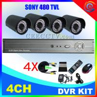 China H.264 4ch dvr combo cctv camera kit CEE-DVR-7104 C938A