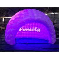 Outdoor Inflatable Air Tent / Dome Tent With Led Light 3 - 5 Years Lifespan