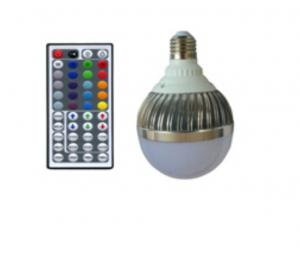 China 12*1W E27 RGB led bulb light with remot control on sale