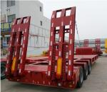 65/ 70/ 80 Ton Low Bed Semi Trailer 3 Units Transporting For Machine