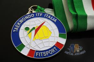 Quality Taekwondo Racing Marathion Swiming Custom Sports Medals Soft Enamel Transparents for sale
