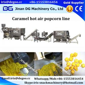 China Air Popped Caramel Hot Air Seed Corn Pop Manufacturing Line Jinan DG on sale