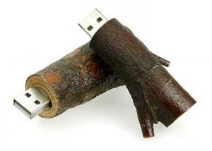 China Office Eco-friendly Wooden USB Flash Drives Natural Tree Branch Style USB Thumb Drives on sale