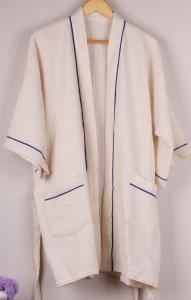 China 100% Cotton Terry Bathrobe, Waffle Sauna Clothes on sale