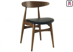 China Hans Wegner for Carl Hansen & Son Wood Restaurant Chairs Ash Wood Leather Seater Armless Chair on sale