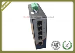 China 10/100M Railed Optical Media Converter Unmanaged Industrial Switch With 5 RJ45 Ethernet Port on sale