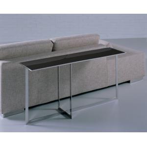 Quality Черная стеклянная таблица верхней стороны, журнальный стол прямоугольника металла стеклянный, черный стеклянный стол for sale