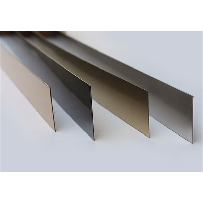 customized sizes gold mirror stainless steel strip or flat